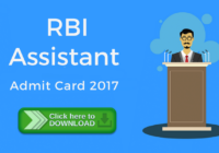 rbi assistant latest admit card