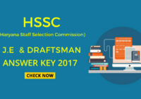 hssc je and draftsman answer key download