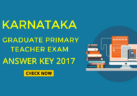 latest Karnataka gpt exam answer key