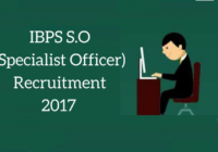 latest ibps so recruitment