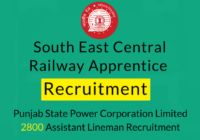 South East Central Railway Apprentice Recruitment