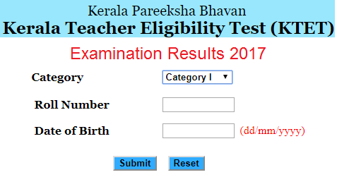 Kerala TET Answer Key Download