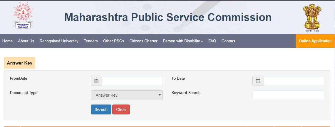 MPSC Tax Assistant Answer Key Download